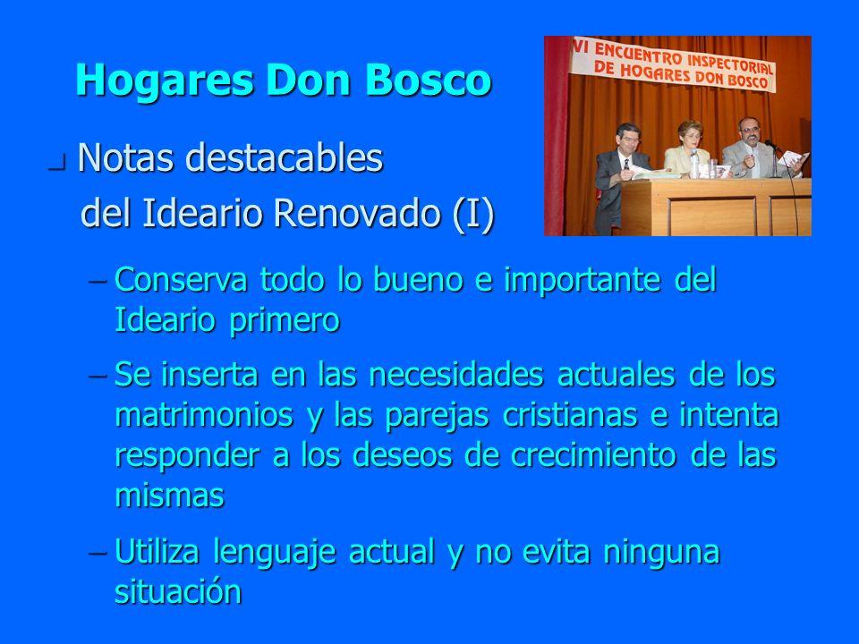 Hogares Don Bosco Notas destacables del Ideario Renovado (I)