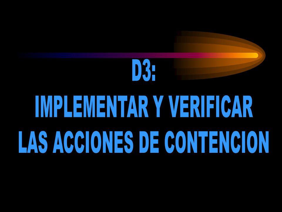 IMPLEMENTAR Y VERIFICAR LAS ACCIONES DE CONTENCION