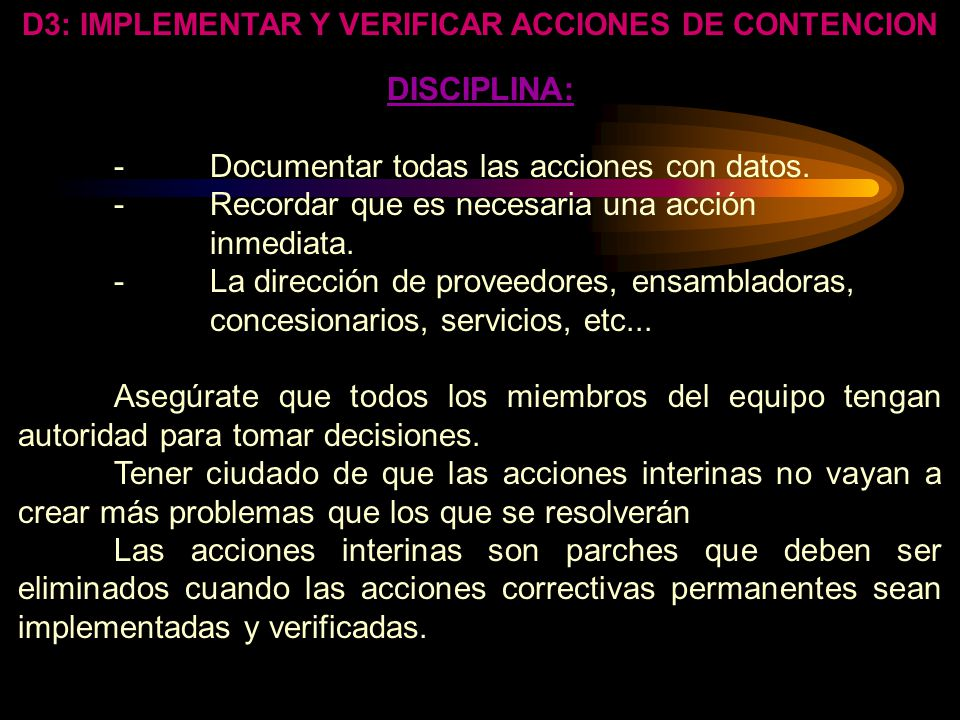 D3: IMPLEMENTAR Y VERIFICAR ACCIONES DE CONTENCION