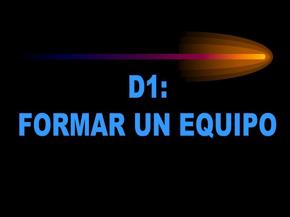 D1: FORMAR UN EQUIPO D1: FORMAR UN EQUIPO