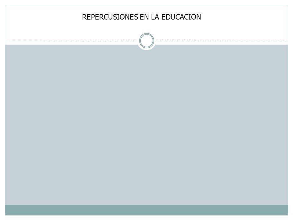 REPERCUSIONES EN LA EDUCACION