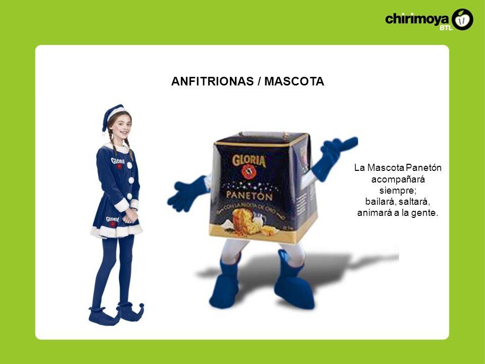 ANFITRIONAS / MASCOTA La Mascota Panetón acompañará siempre;