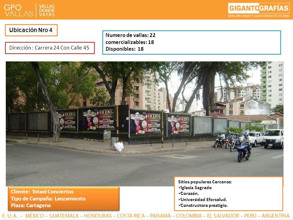 Dirección : Carrera 24 Con Calle 45