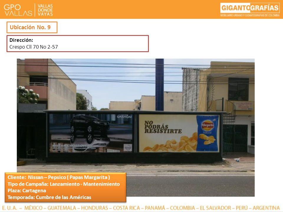 Ubicación No. 9 Dirección: Crespo Cll 70 No 2-57