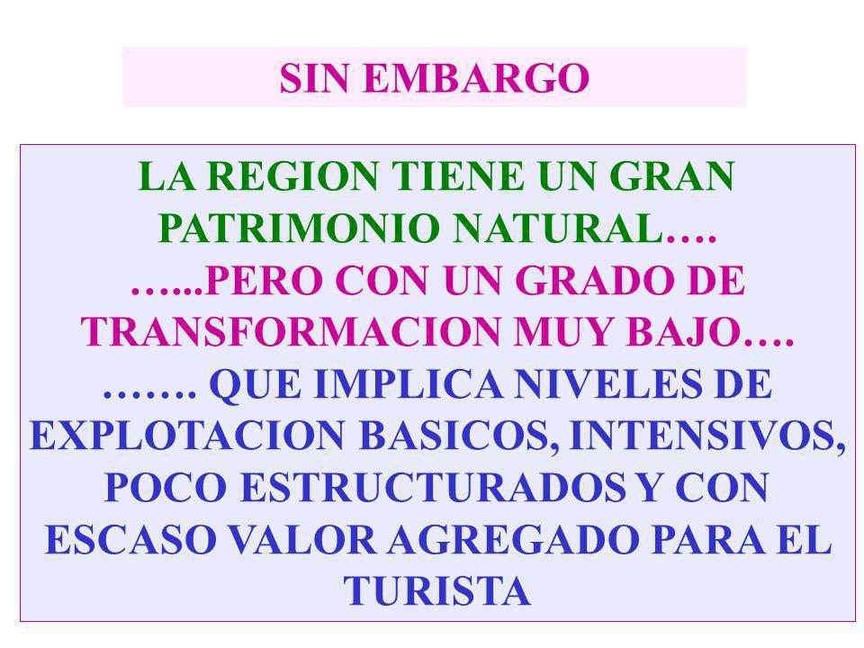 LA REGION TIENE UN GRAN PATRIMONIO NATURAL….