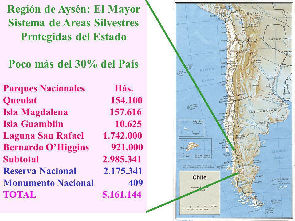 Región de Aysén: El Mayor Sistema de Areas Silvestres Protegidas del Estado