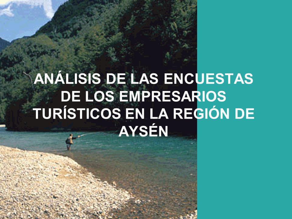 ANÁLISIS DE LAS ENCUESTAS DE LOS EMPRESARIOS TURÍSTICOS EN LA REGIÓN DE AYSÉN