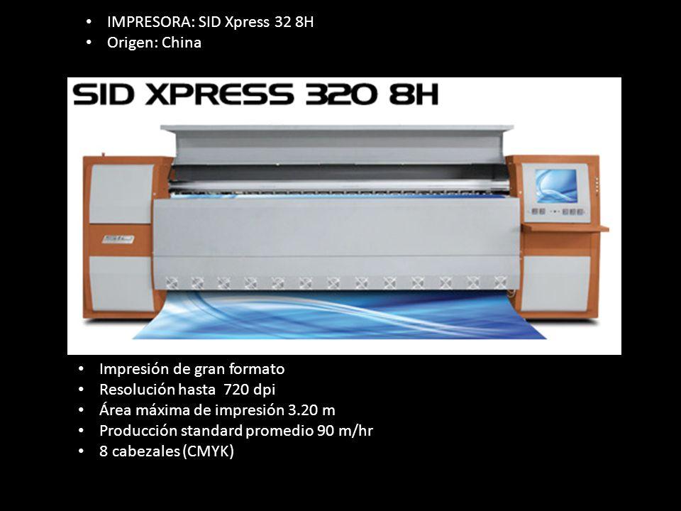 IMPRESORA: SID Xpress 32 8H