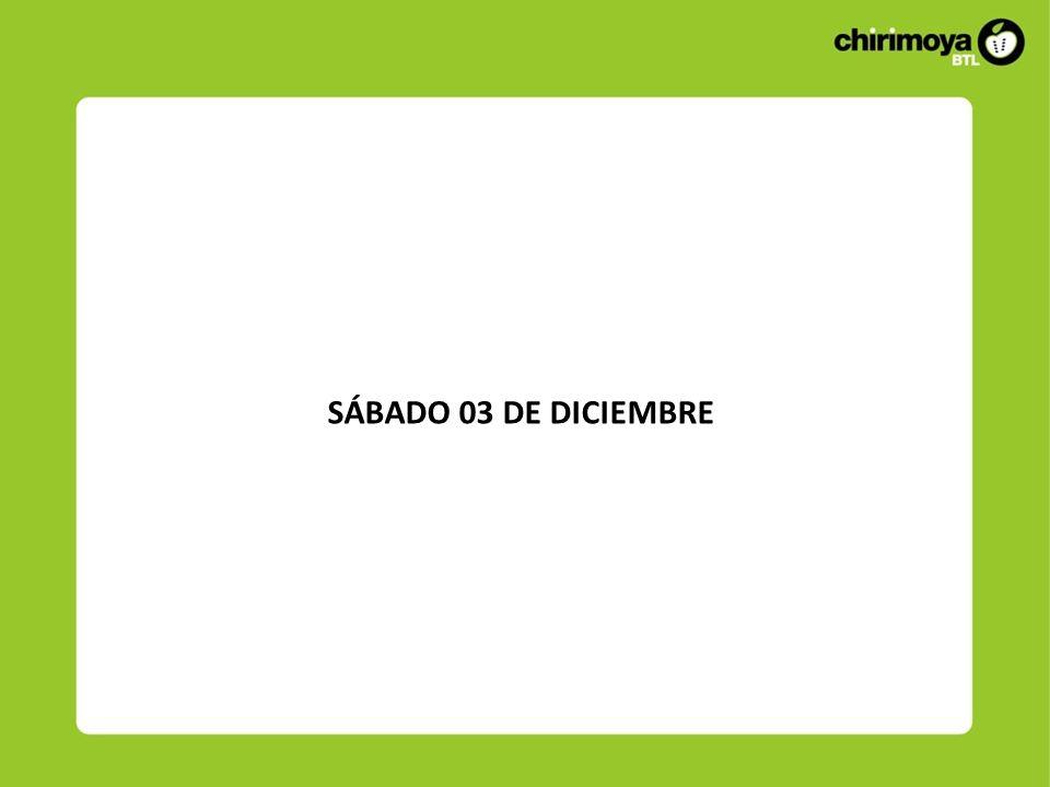 SÁBADO 03 DE DICIEMBRE