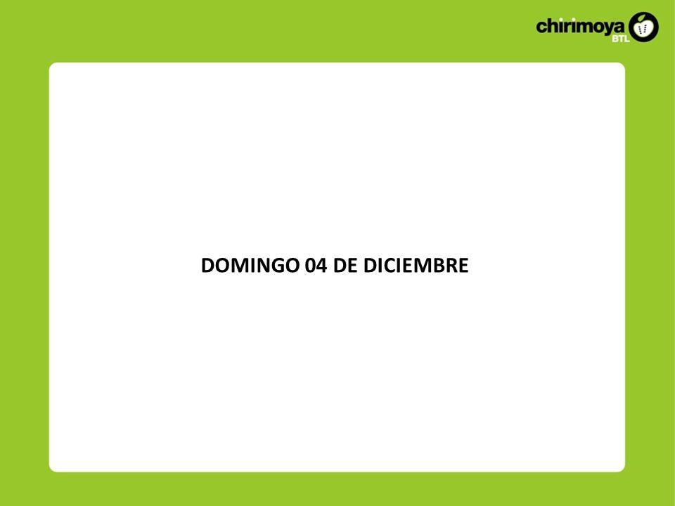 DOMINGO 04 DE DICIEMBRE