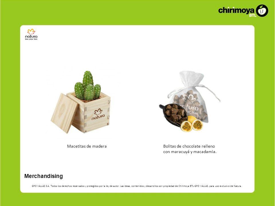 Merchandising Macetitas de madera