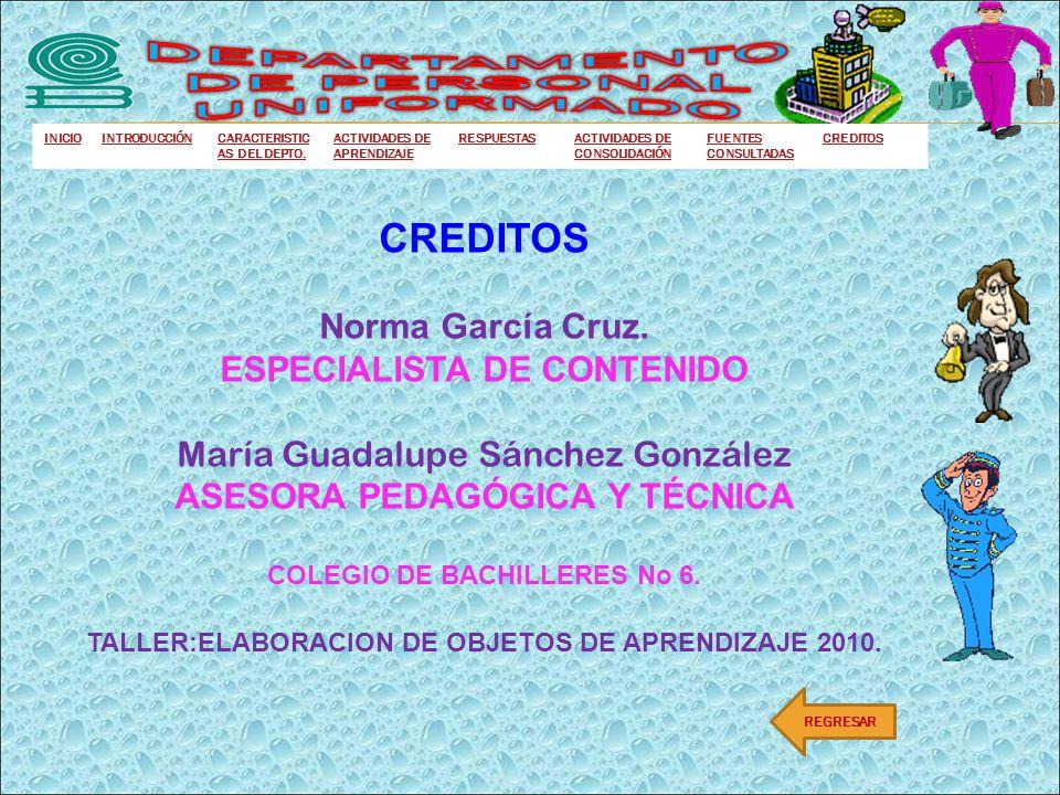 DEPARTAMENTO DE PERSONAL UNIFORMADO