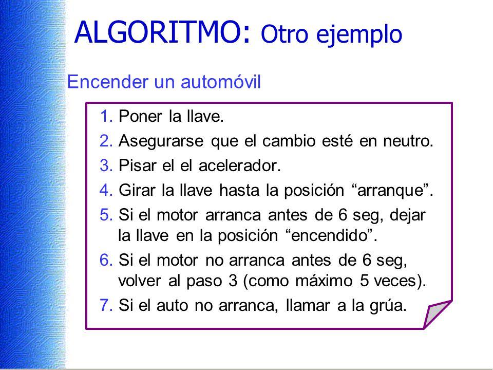ALGORITMO: Otro ejemplo