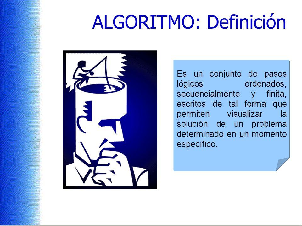 ALGORITMO: Definición