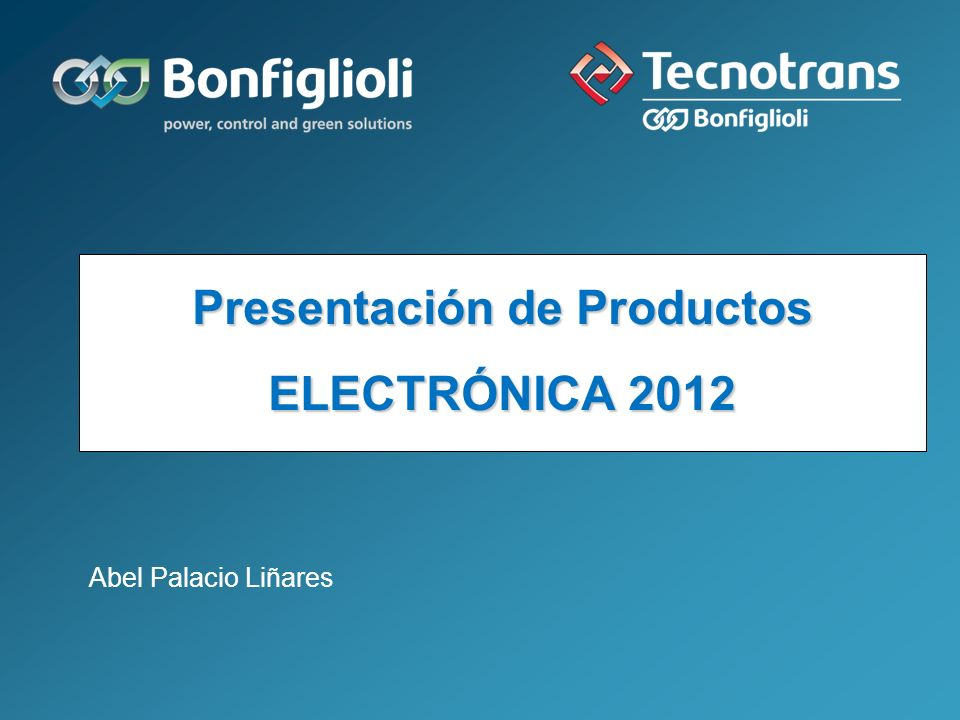 Presentación de Productos ELECTRÓNICA 2012