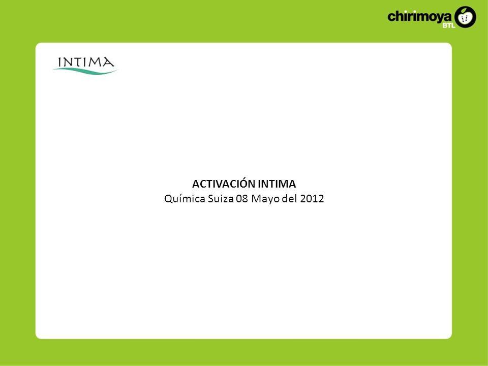 ACTIVACIÓN INTIMA Química Suiza 08 Mayo del 2012
