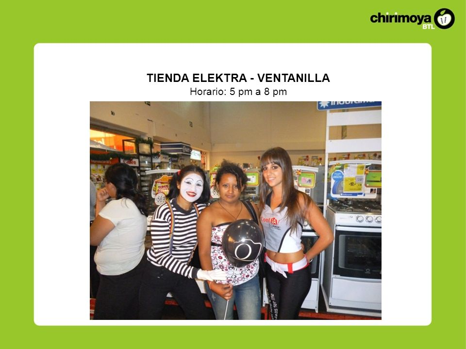 TIENDA ELEKTRA - VENTANILLA