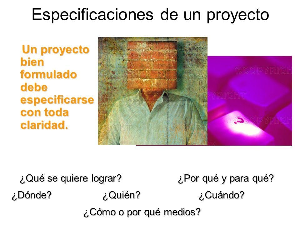 Especificaciones de un proyecto