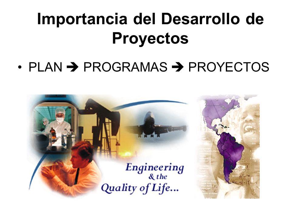 Importancia del Desarrollo de Proyectos