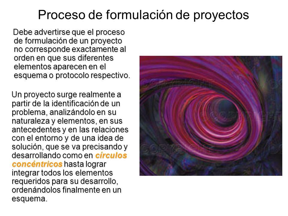 Proceso de formulación de proyectos