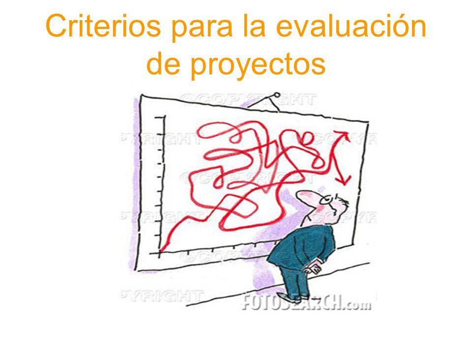 Criterios para la evaluación de proyectos