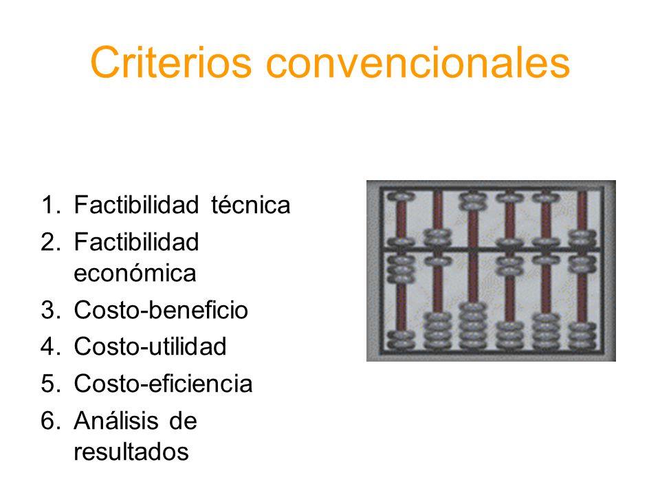 Criterios convencionales