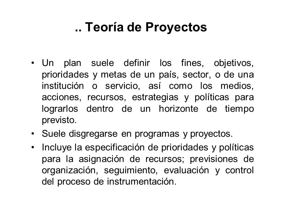 .. Teoría de Proyectos