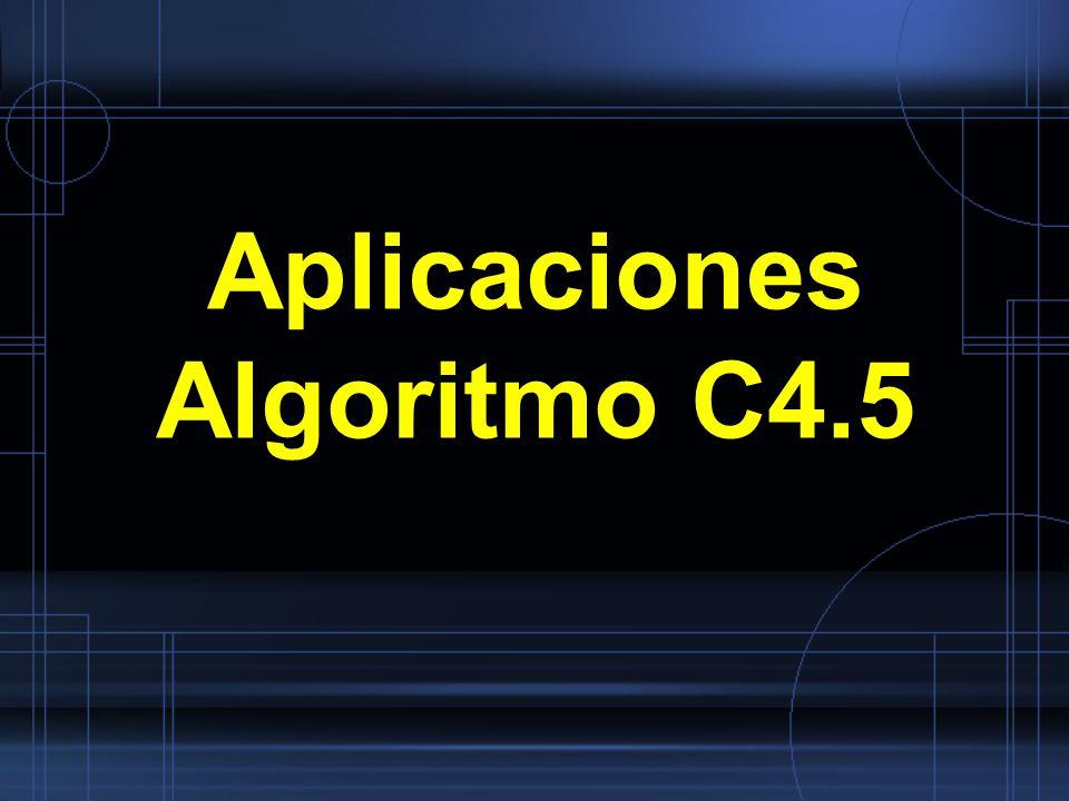 Aplicaciones Algoritmo C4.5