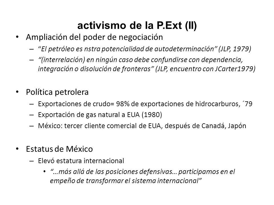 activismo de la P.Ext (II)