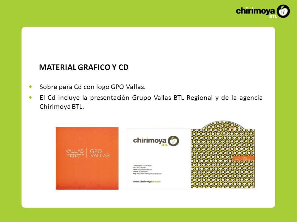 MATERIAL GRAFICO Y CD Sobre para Cd con logo GPO Vallas.