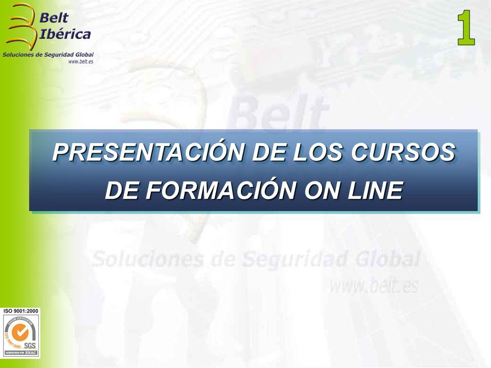 PRESENTACIÓN DE LOS CURSOS DE FORMACIÓN ON LINE