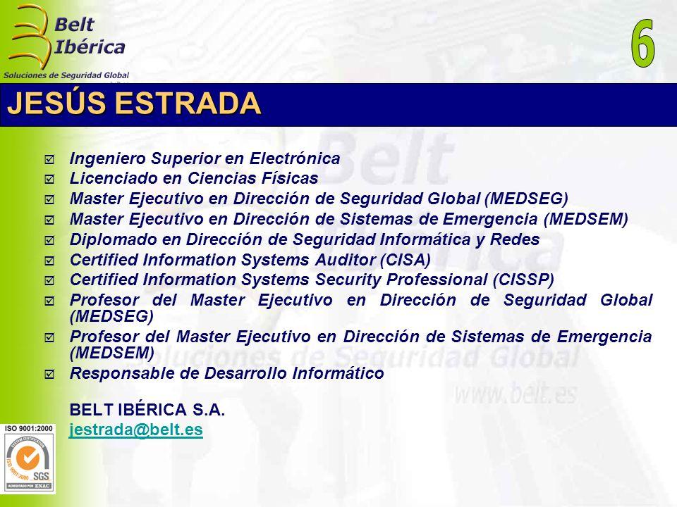 6 JESÚS ESTRADA Ingeniero Superior en Electrónica