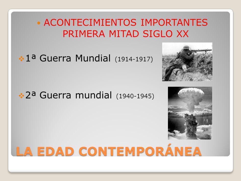 ACONTECIMIENTOS IMPORTANTES PRIMERA MITAD SIGLO XX