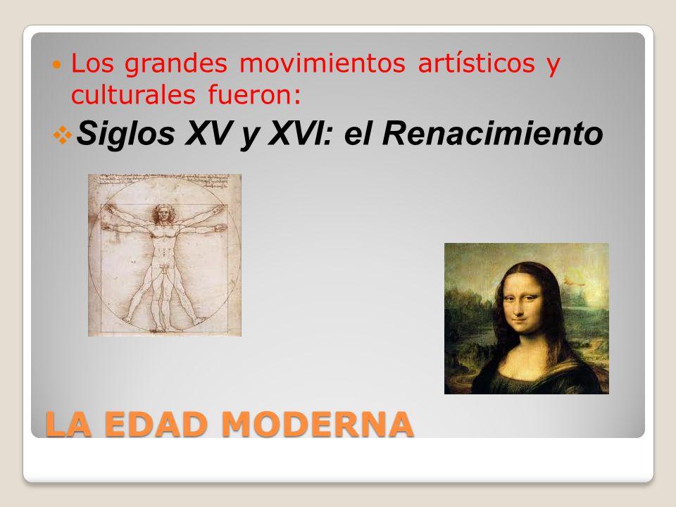 Siglos XV y XVI: el Renacimiento