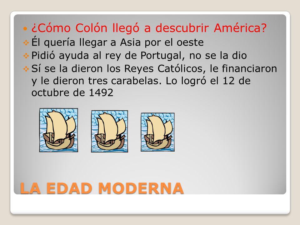 LA EDAD MODERNA ¿Cómo Colón llegó a descubrir América
