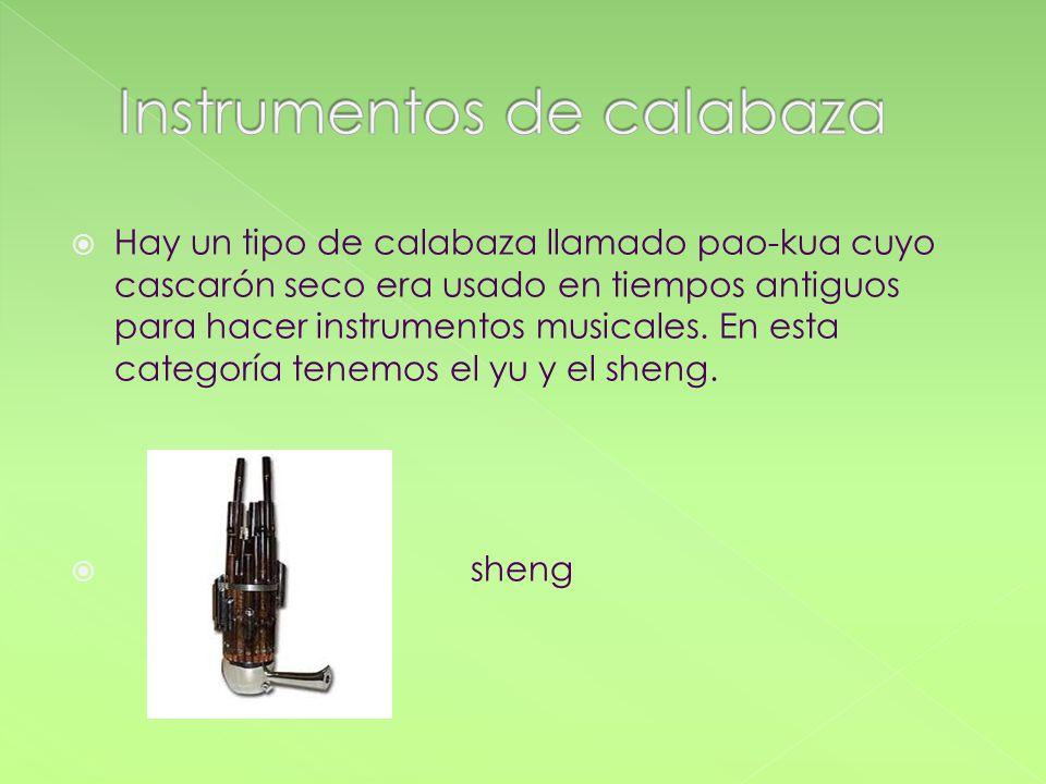 Instrumentos de calabaza
