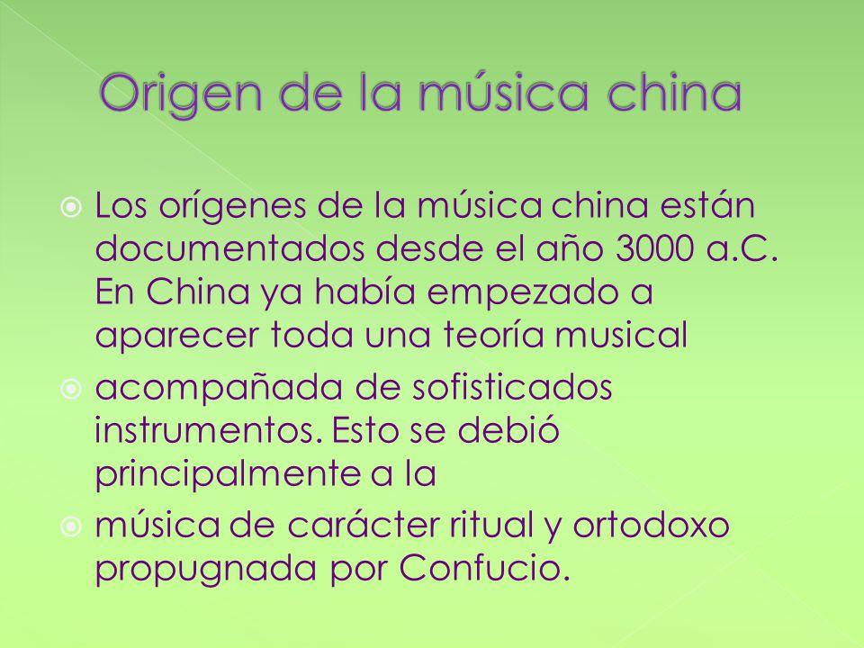 Origen de la música china