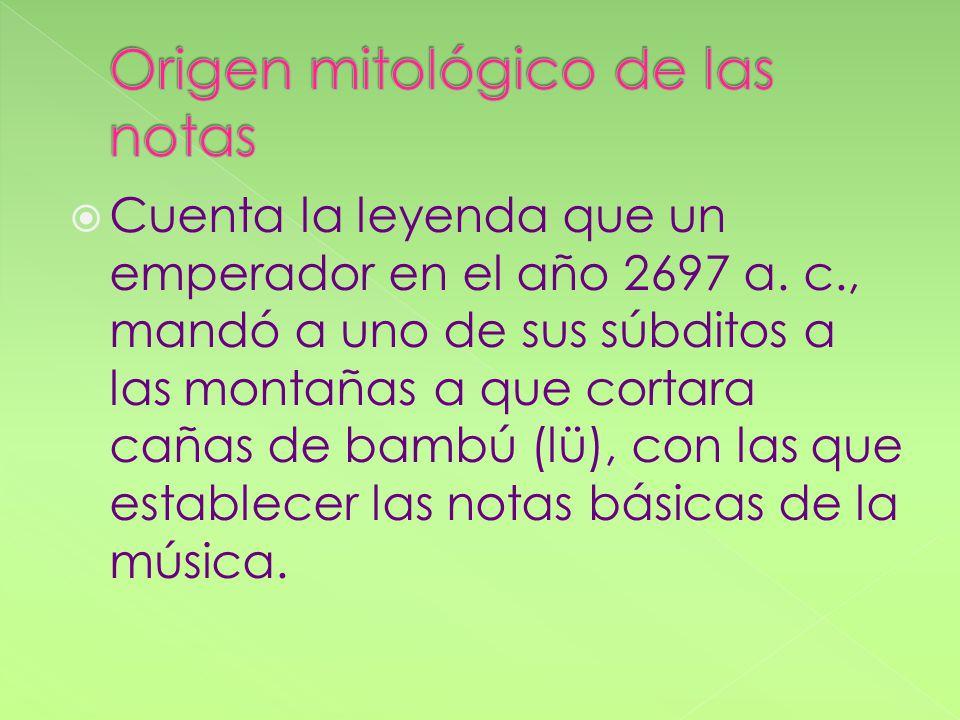 Origen mitológico de las notas