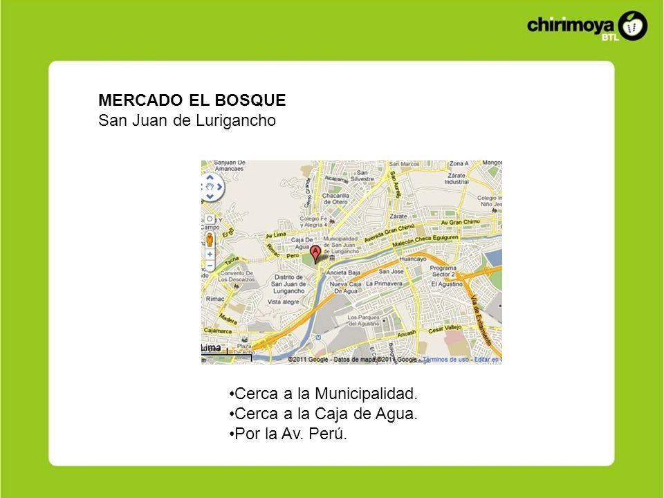 MERCADO EL BOSQUE San Juan de Lurigancho. Cerca a la Municipalidad.