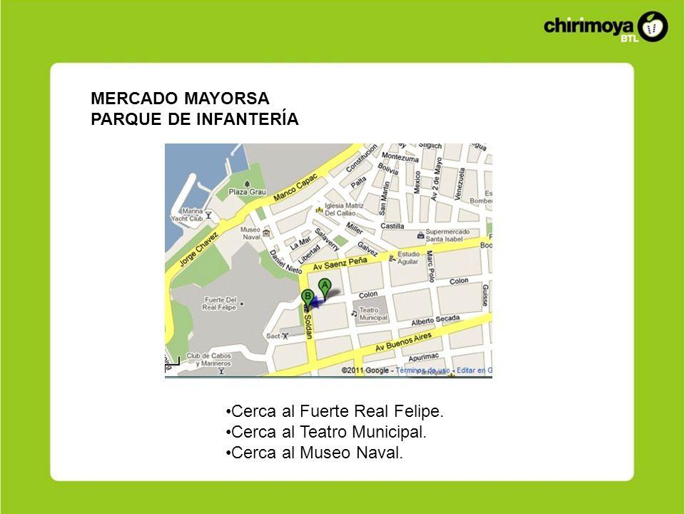 MERCADO MAYORSAPARQUE DE INFANTERÍA.Cerca al Fuerte Real Felipe.
