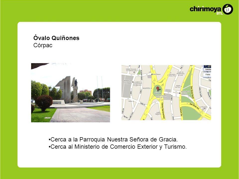 Óvalo QuiñonesCórpac.Cerca a la Parroquia Nuestra Señora de Gracia.