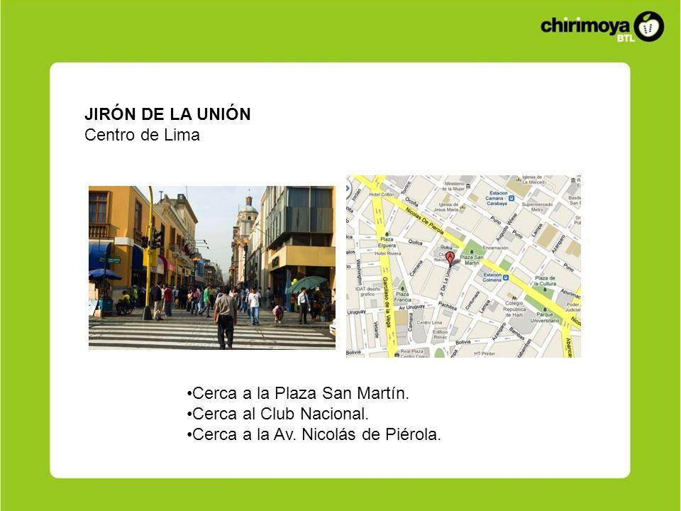 JIRÓN DE LA UNIÓN Centro de Lima. Cerca a la Plaza San Martín.