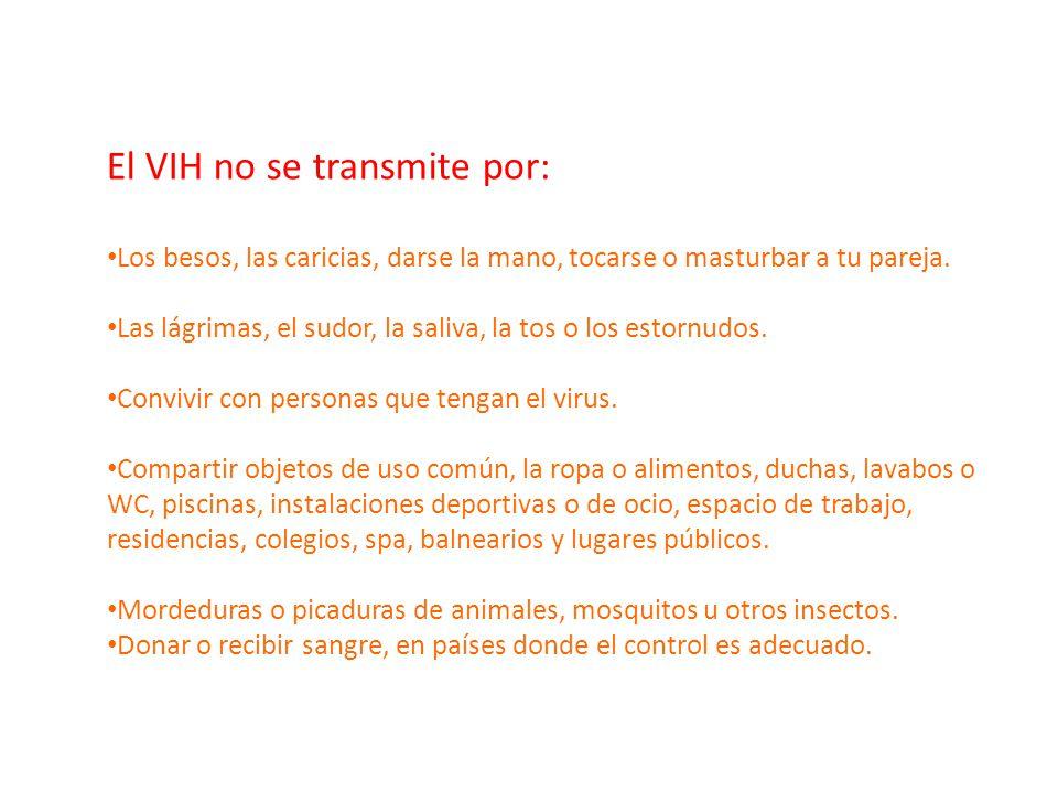 El VIH no se transmite por: