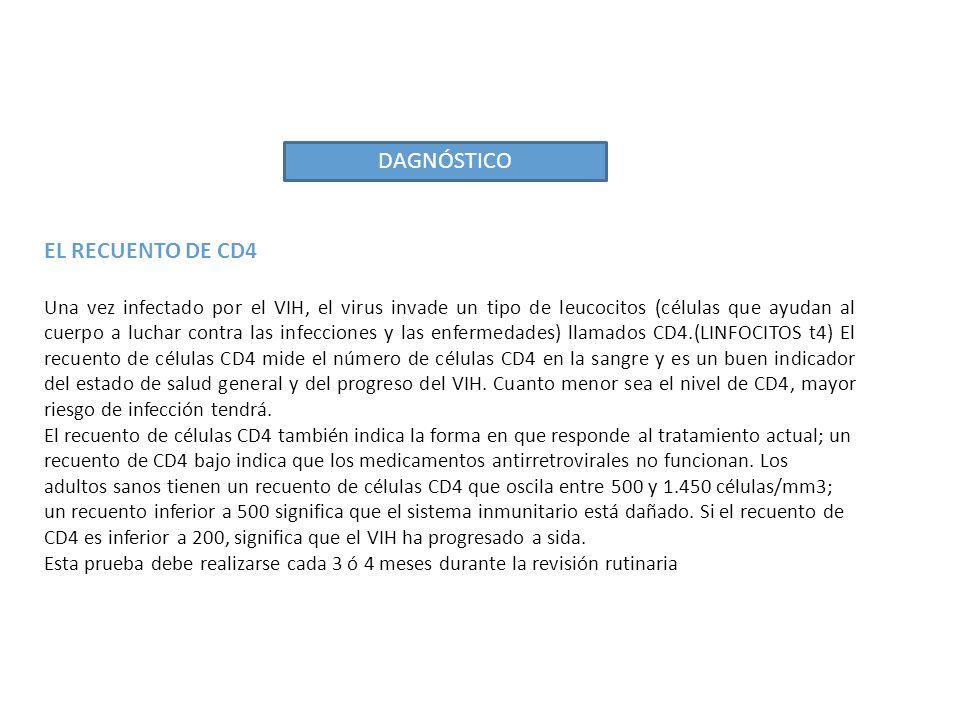 DAGNÓSTICO EL RECUENTO DE CD4