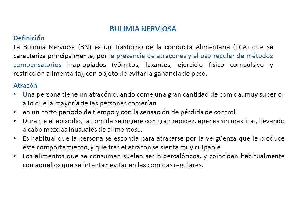 BULIMIA NERVIOSA Definición