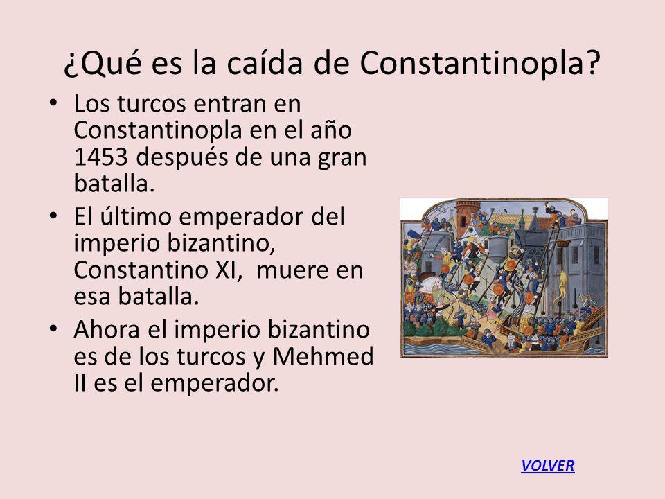 ¿Qué es la caída de Constantinopla