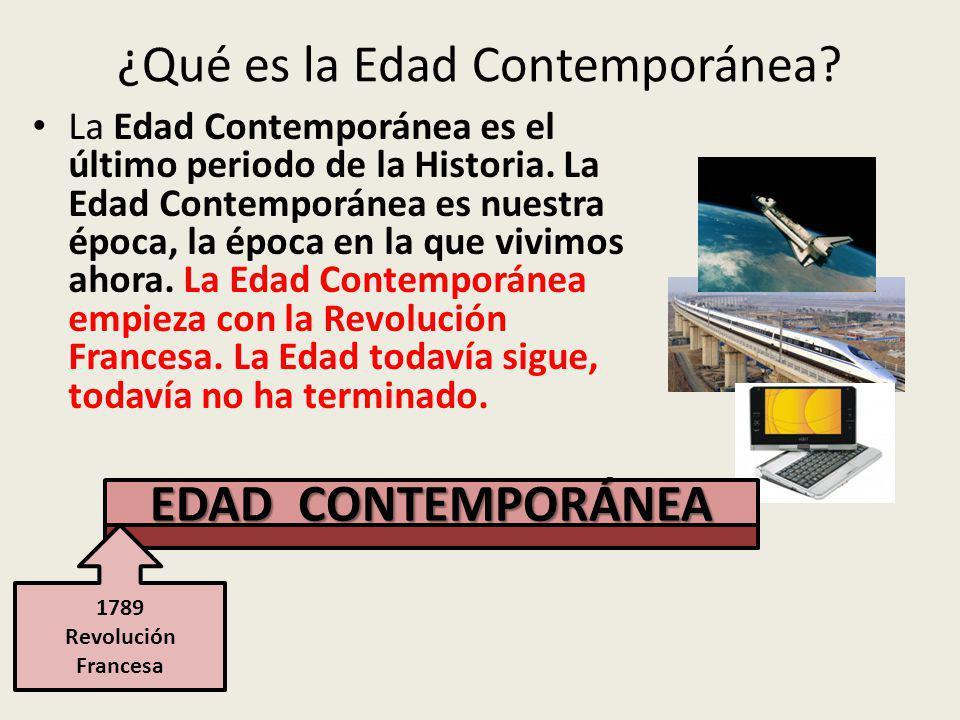 ¿Qué es la Edad Contemporánea