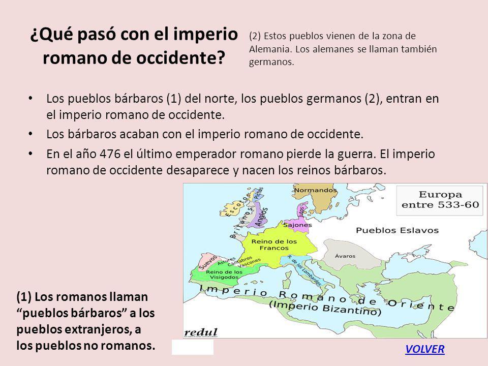¿Qué pasó con el imperio romano de occidente