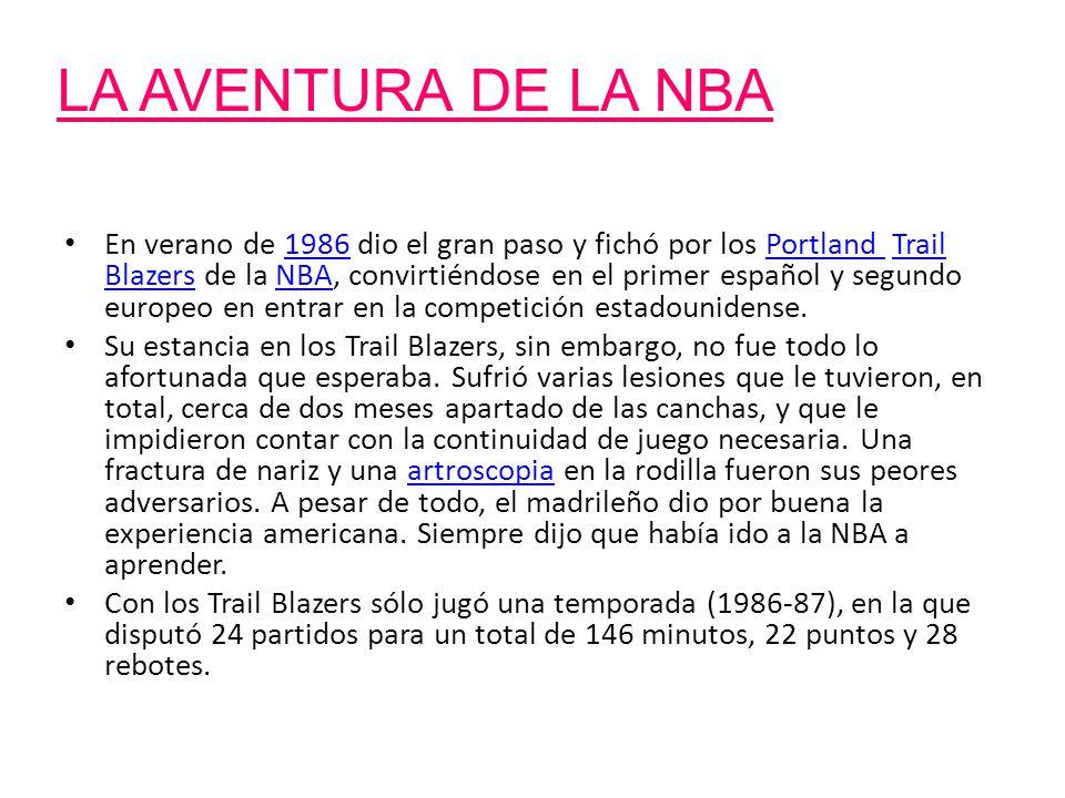 LA AVENTURA DE LA NBA