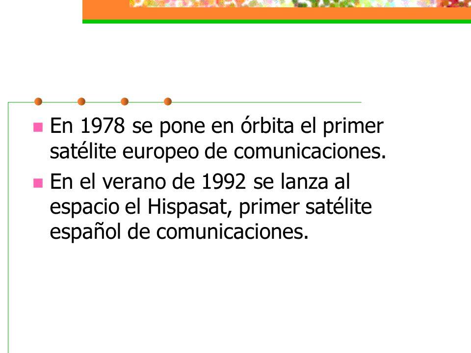En 1978 se pone en órbita el primer satélite europeo de comunicaciones.